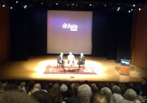 Iranian Ambassador to the United Nations, Mohammed Khazaee, on stage at the Asia Society along with journalist David Ignatius and former U.S. top diplomat Thomas Pickering