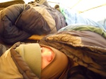 After a COLD night in the tent