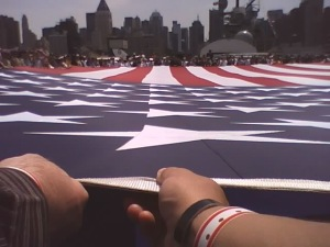 Memorial Day ceremony on the deck of the USS Intrepid, 2009