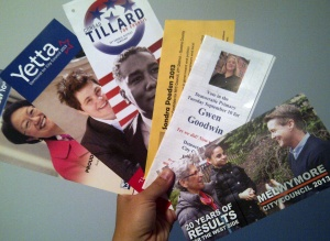 City Council campaign flyers