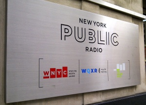 At the WNYC Studios in SoHo
