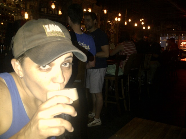 Toasting liberty with a Plain Porter at Fraunces Tavern