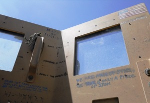Notes from inside a machine gunner's turret, Afghanistan 2012.