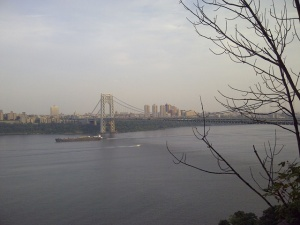 A view from the Palisades trail, overlooking the George Washington Bridge