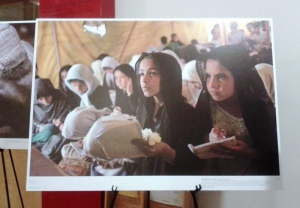 "Image from the photo exhibition ""Between Peace and War"" on display at the Asia Society"