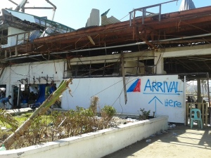 The remains of the terminal at Tacloban's DZR Airport