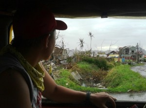 On the road west of Tacloban