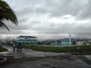 The damaged Carigara LGU, where municipal workers lived and worked around the clock to help their town.