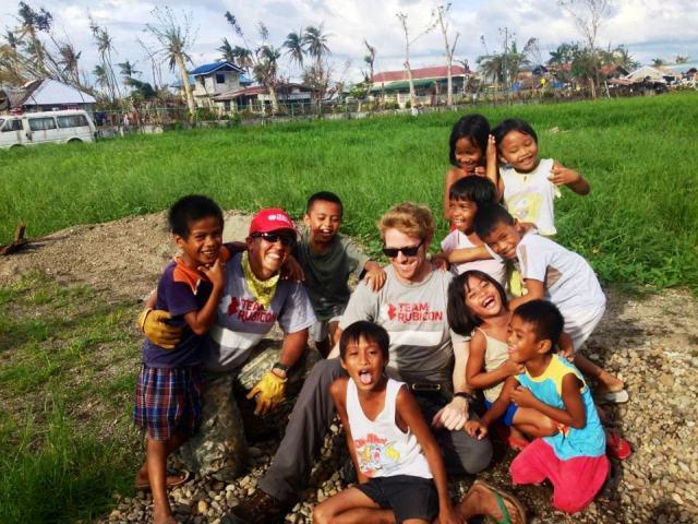 Wonderful neighborhood kids who helped us and cheered us on.