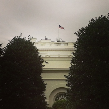 View from the West Wing of the White House.