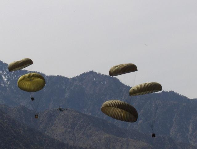 CDS airdrop bundles in eastern Afghanistan in 2006.