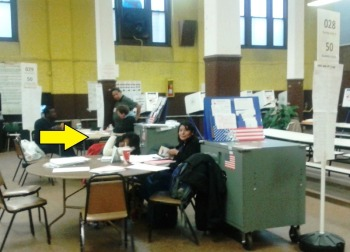 Poll worker sleeping on election day in my polling station last year... in part because voters weren't showing up.