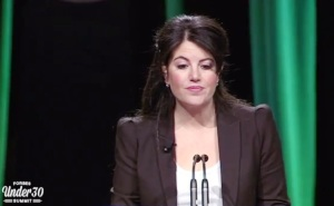Monica Lewinsky speaks at the Forbes 30 Under 30 Summit