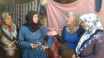 Syrian women tell us about their farm outside of Aleppo that was bombed