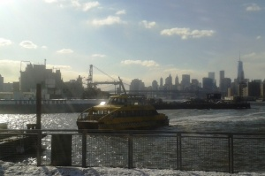 View of Wallabout Channel from the East River Ferry's South Williamsburg stop