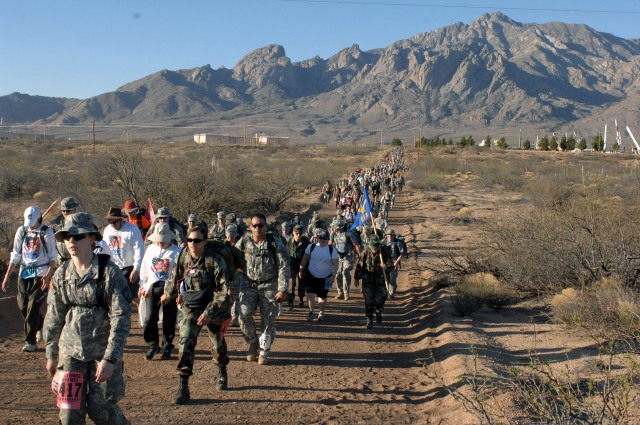 Military photo of last year's Bataan Memorial Death March in White Sands, New Mexico