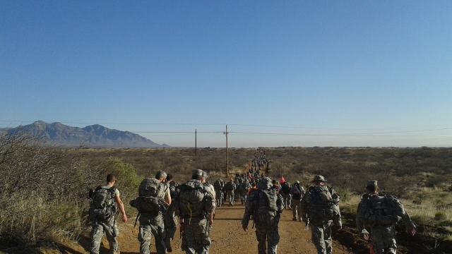 The 2015 Bataan Memorial Death March at White Sands Missile Range, New Mexico