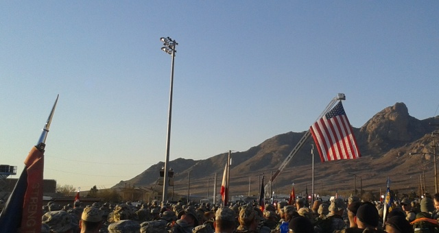Plenty of women in the ranks here, waiting to start the Bataan Memorial Death March on March 22, 2015.
