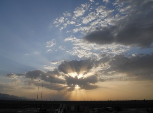 Sunset near Mazar-e-Sharif, Afghanistan. Experiences matter.